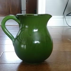 Vintage green water/juice jug made in Italy